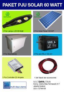 Paket PJU Solar Panel 60 Watt