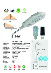 PJU Solar Integrated All In One 24 Watt