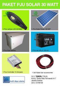 Paket PJU Solar Panel 30 Watt